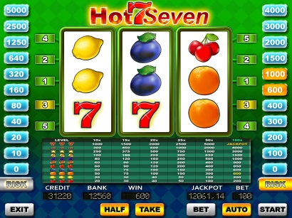 HotSeven - reels slot machine
