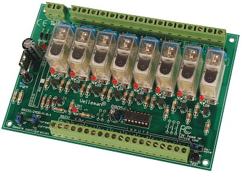 Serial 8-channel relay board Velleman K8056